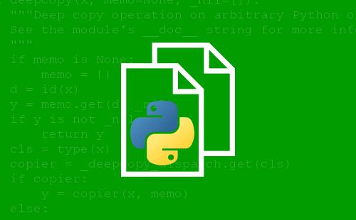 Copiar objetos con el módulo estándar «copy»