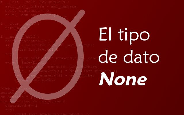 El tipo de dato «None»
