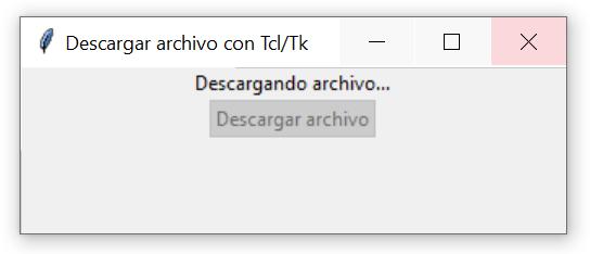 Tareas en segundo plano con Tcl/Tk (tkinter)